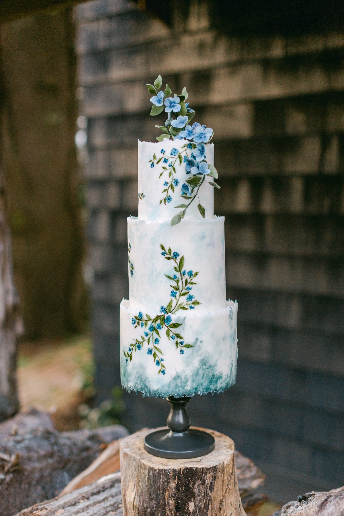Confectionery Designs blue wedding cake