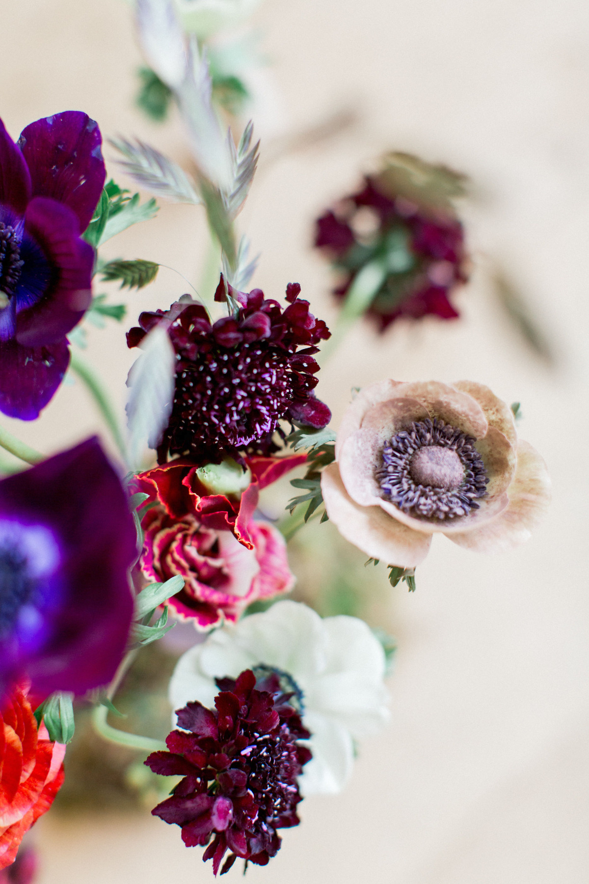 bright wedding florals