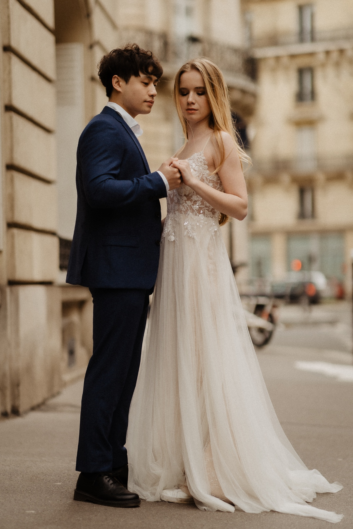 Romantic and lovely elopement in France