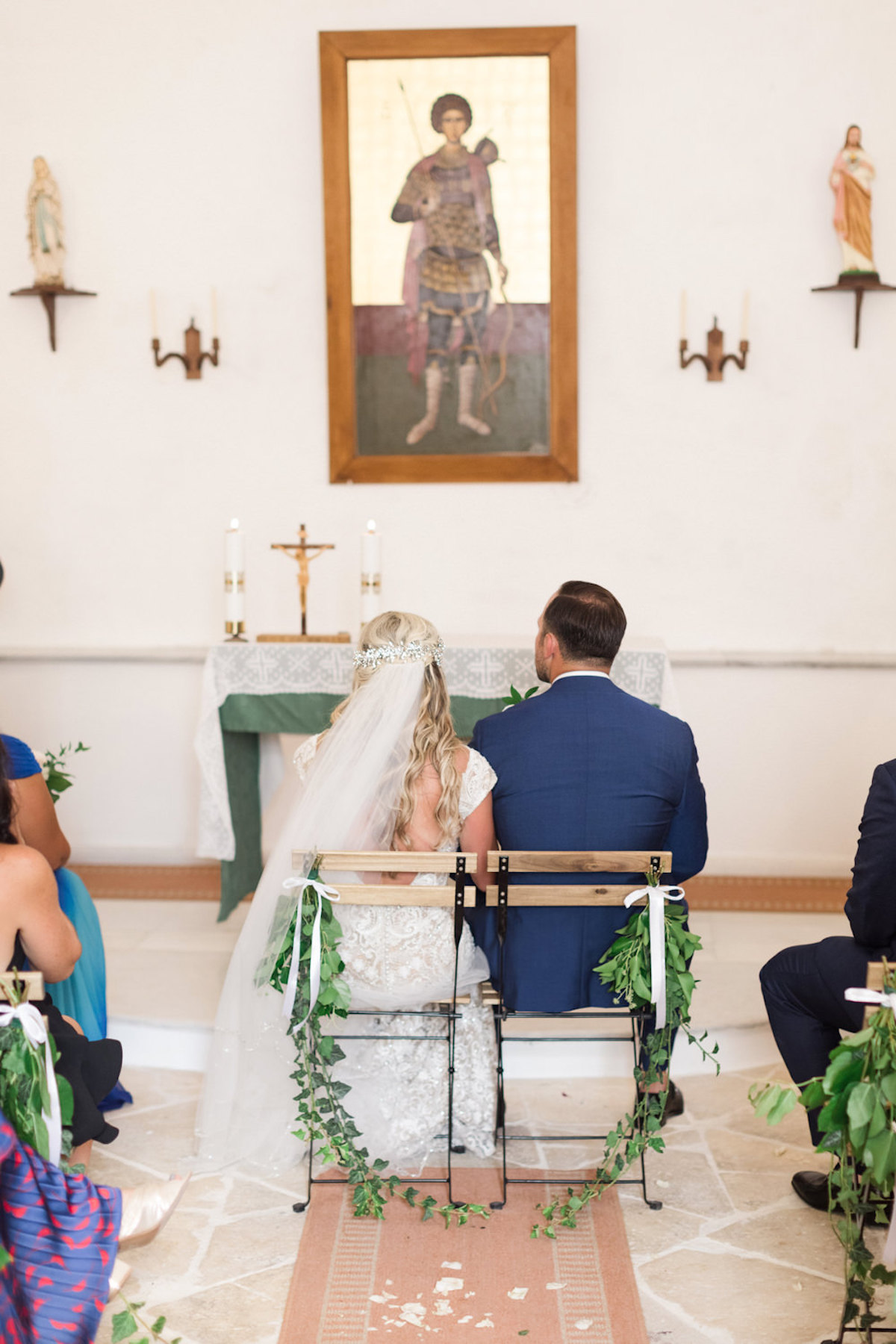 bride and groom and Greek wedding ceremony