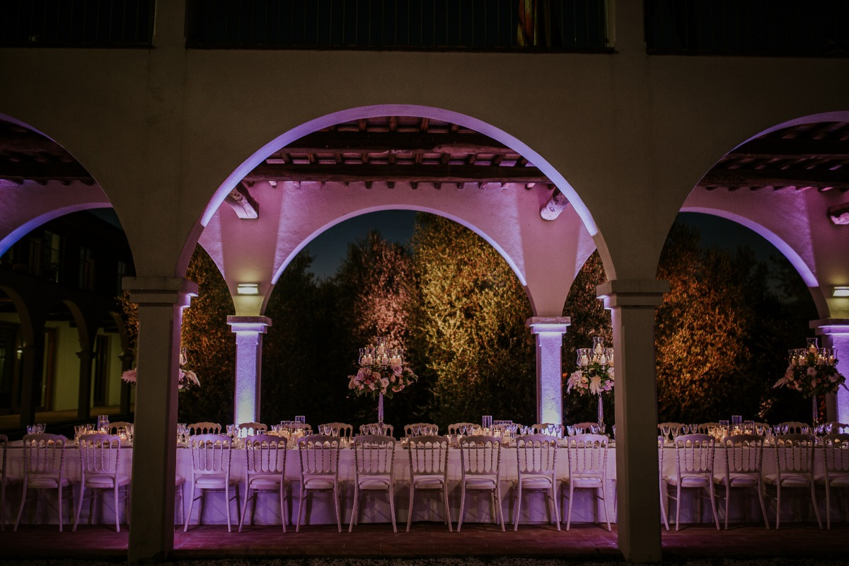 Tuscany wedding reception designed by Giulia Alessandri Wedding & Event Planner