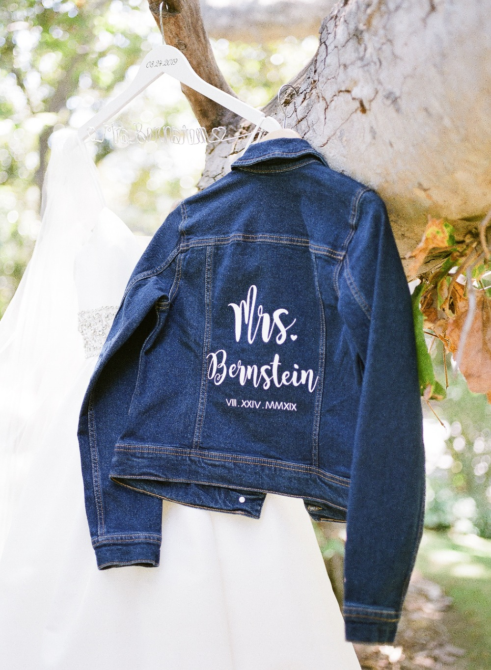 personalized bridal jean jacket