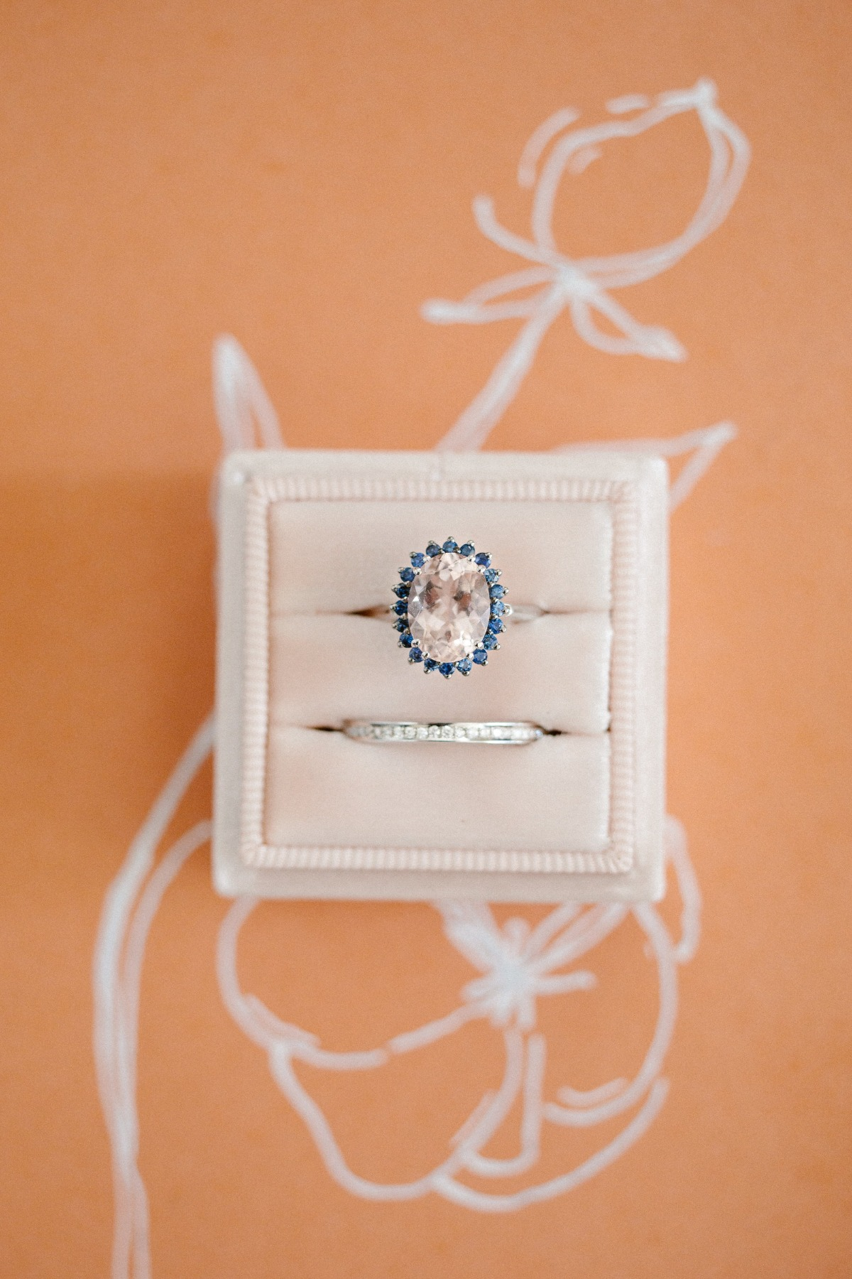 flat lay styling idea for wedding ring