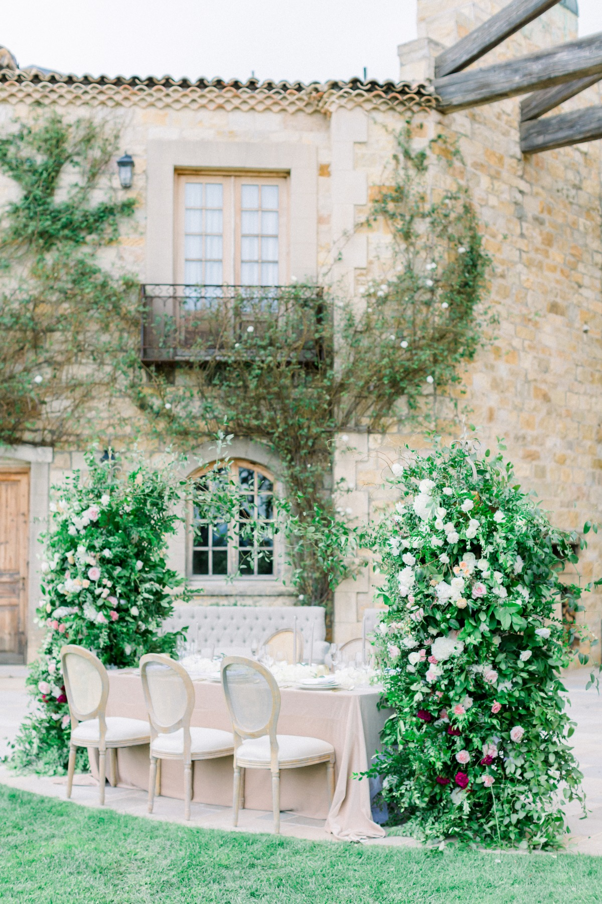 Outdoor wedding reception styled by Tyler Speier Events