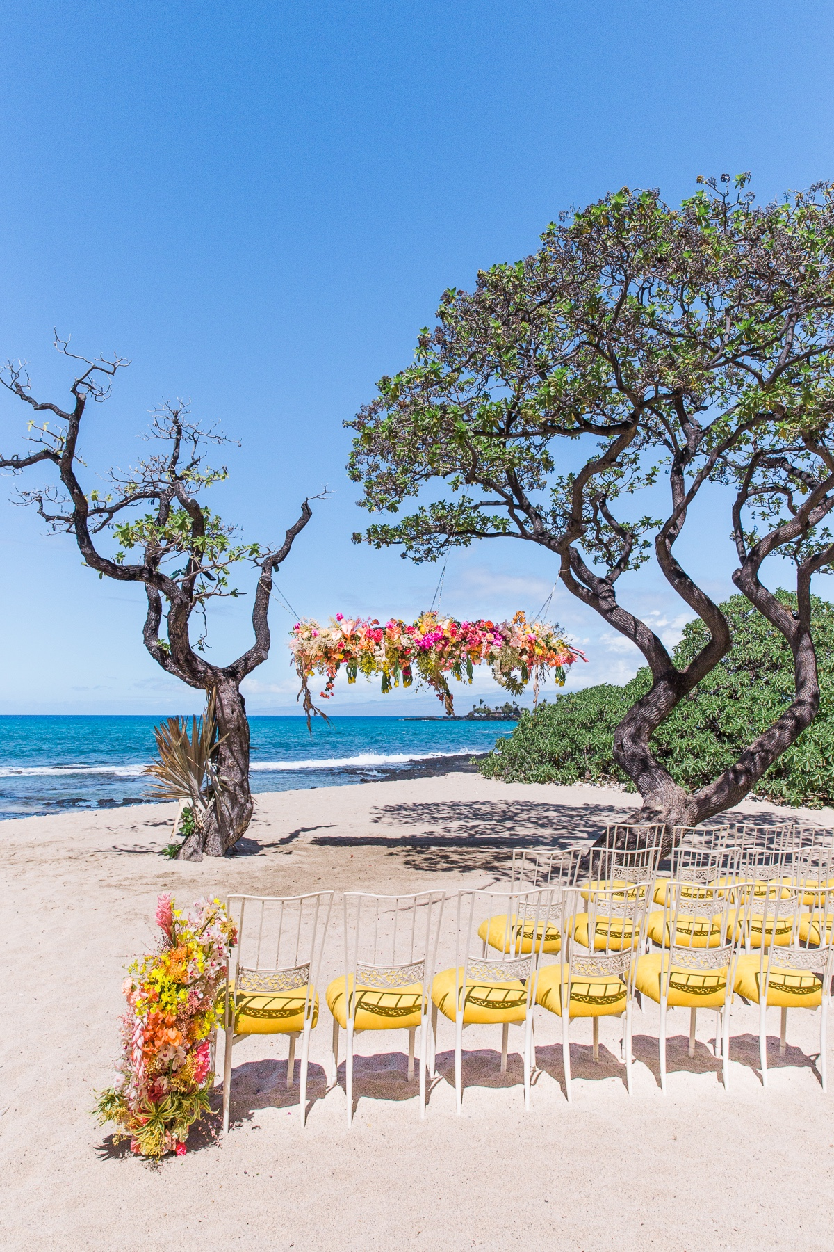 Four Seasons Resort, Hualalai beach wedding ceremony