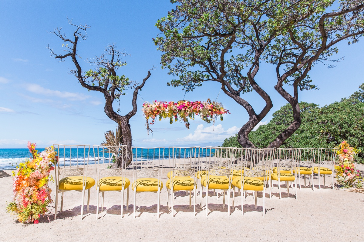 Four Seasons Resort, Hualalai beach side wedding ceremony