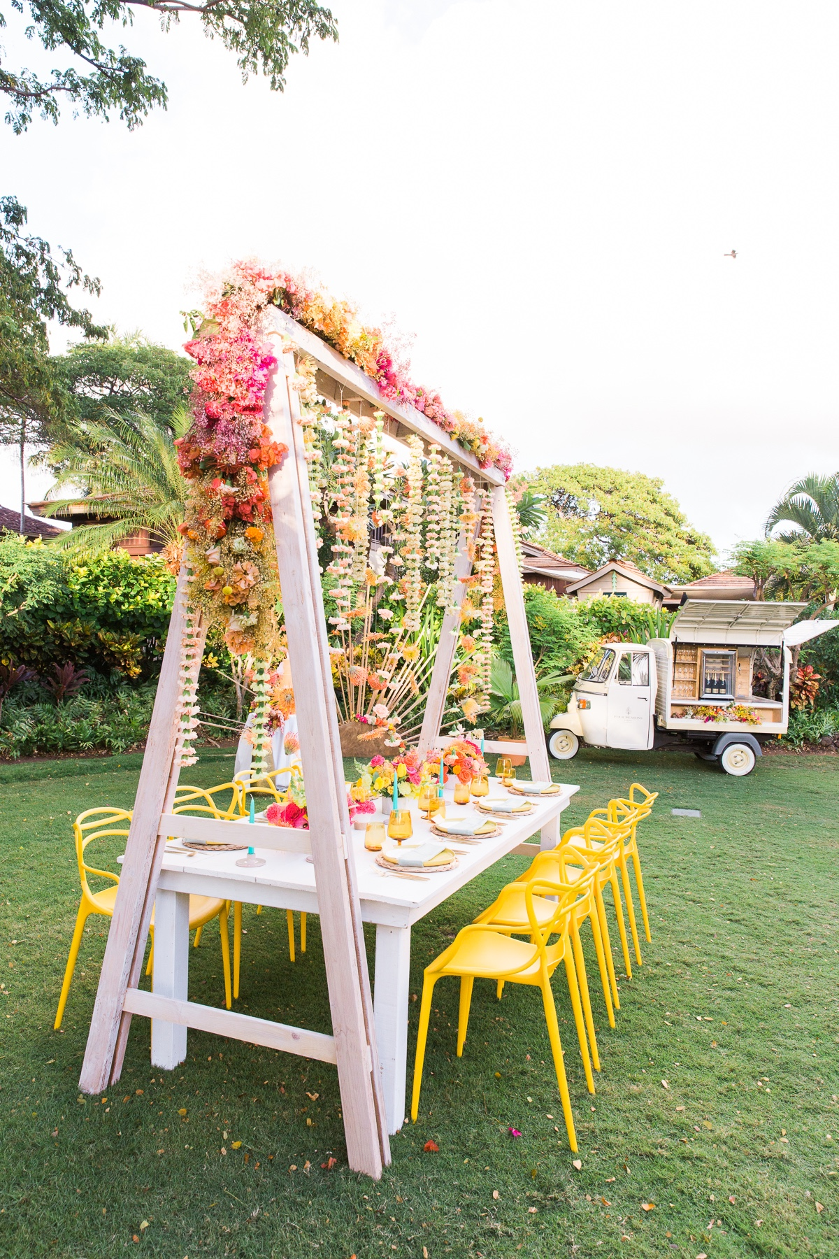 garden wedding brunch at Four Seasons Resort, Hualalai