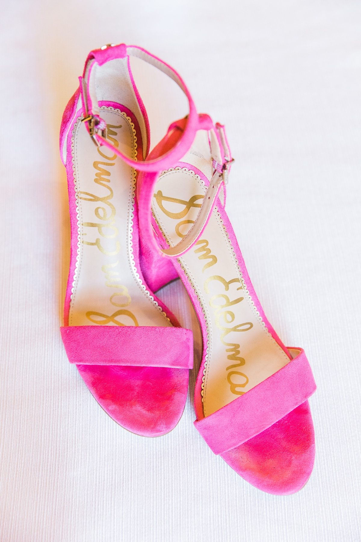 magenta Sam Edelman wedding shoes