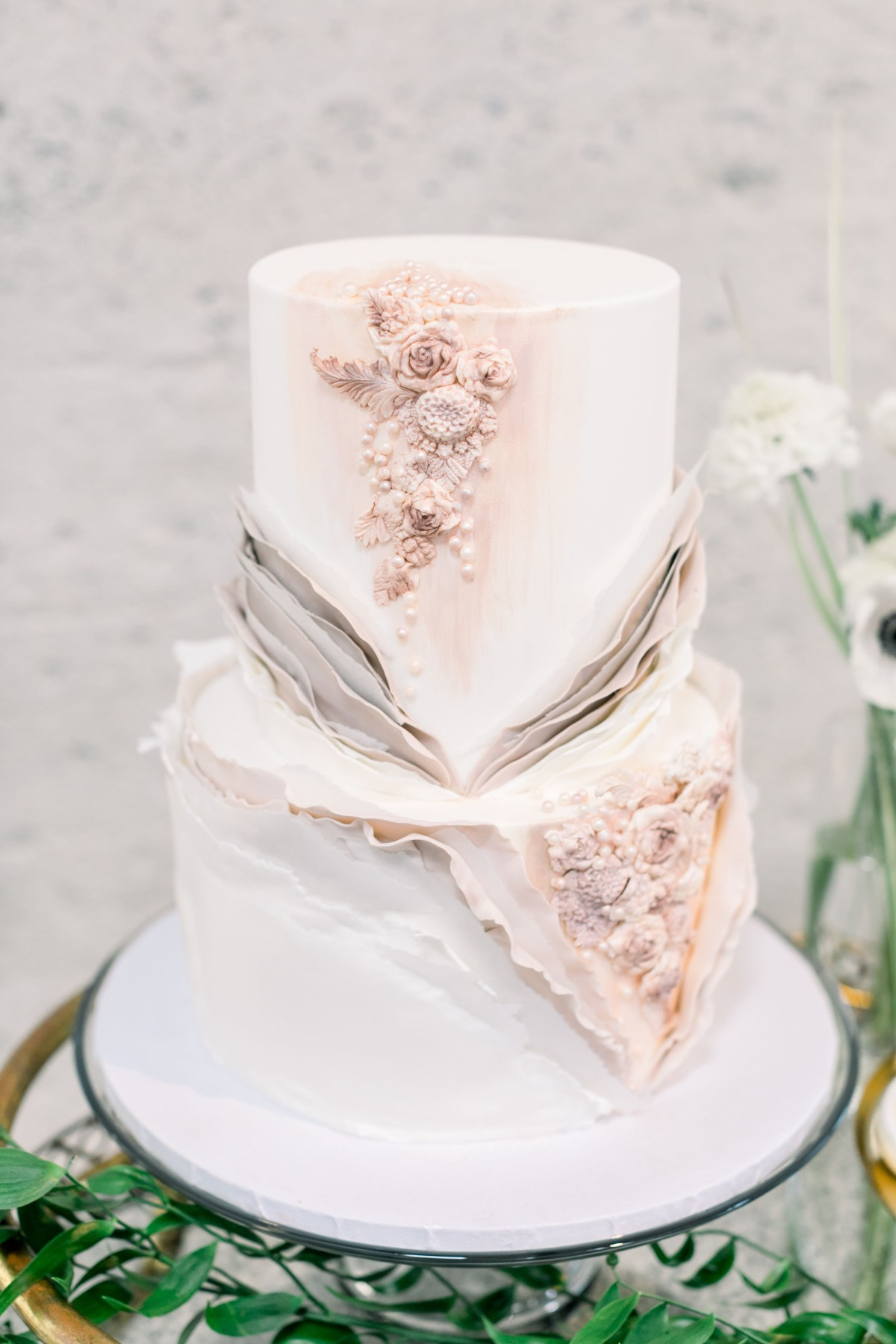 intricate and fancy wedding cake by Vanilla bake shop