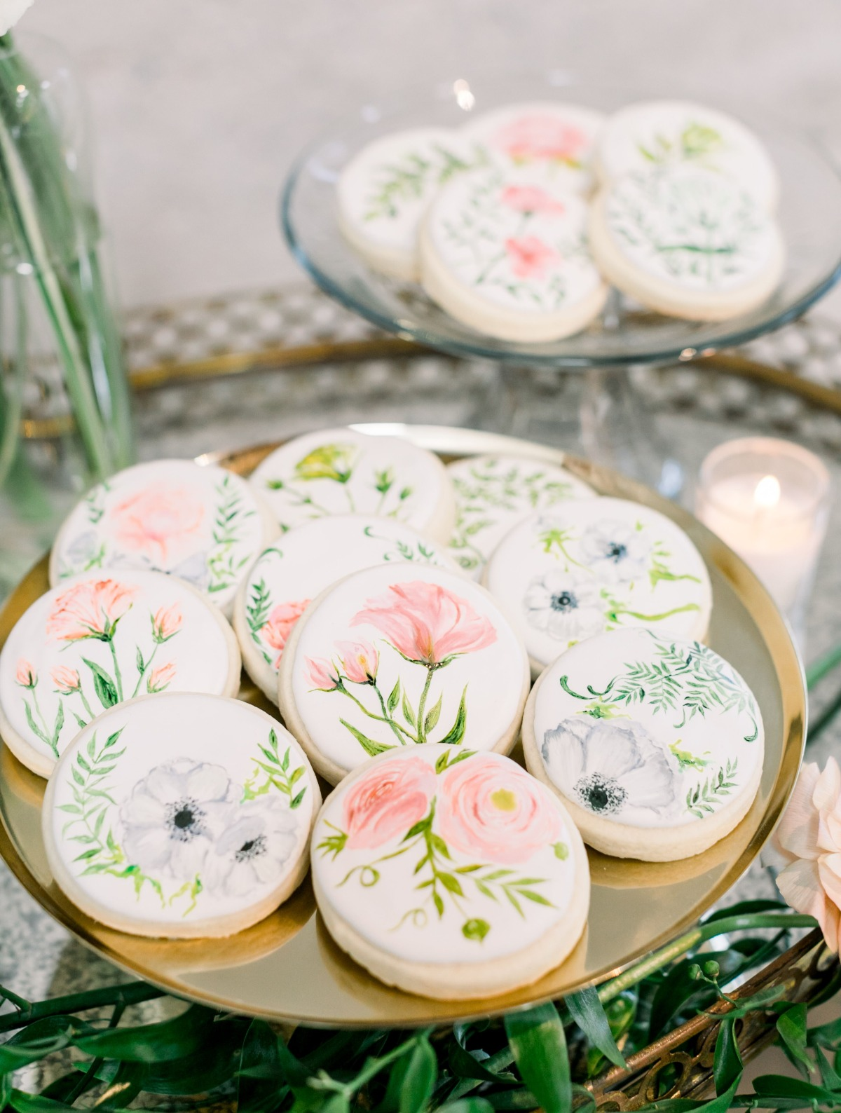 hand painted floral cookies
