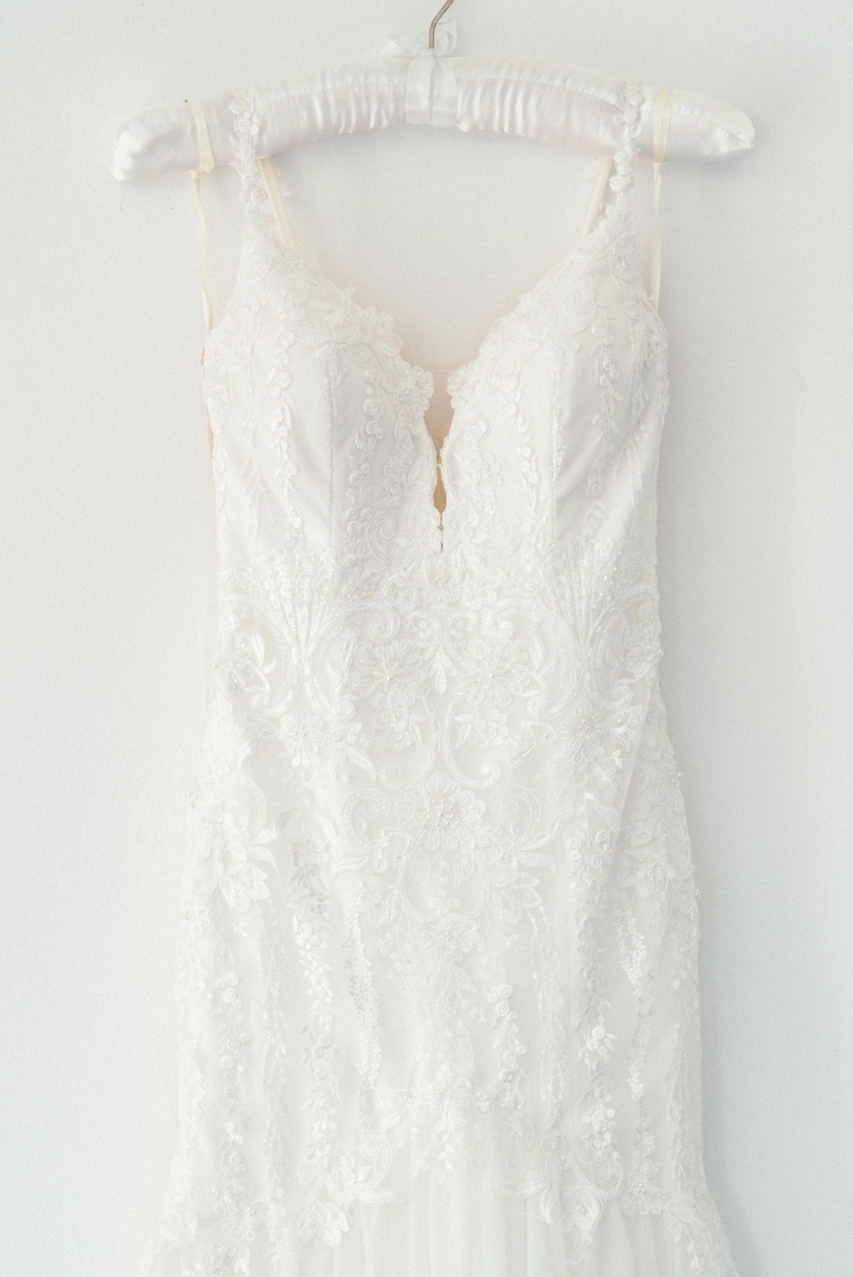 stunning embroidered gown with crystals