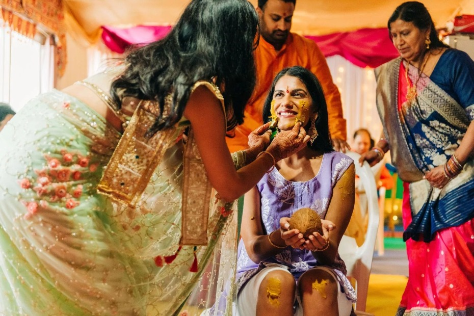 bride at Indian wedding traditions