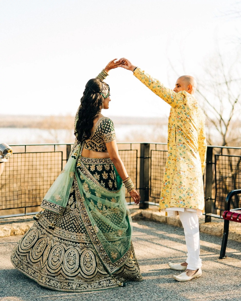 Indian bride and groom portrait ideas
