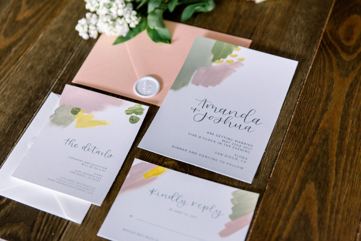 Isabella Modern Calligraphy wedding invitations