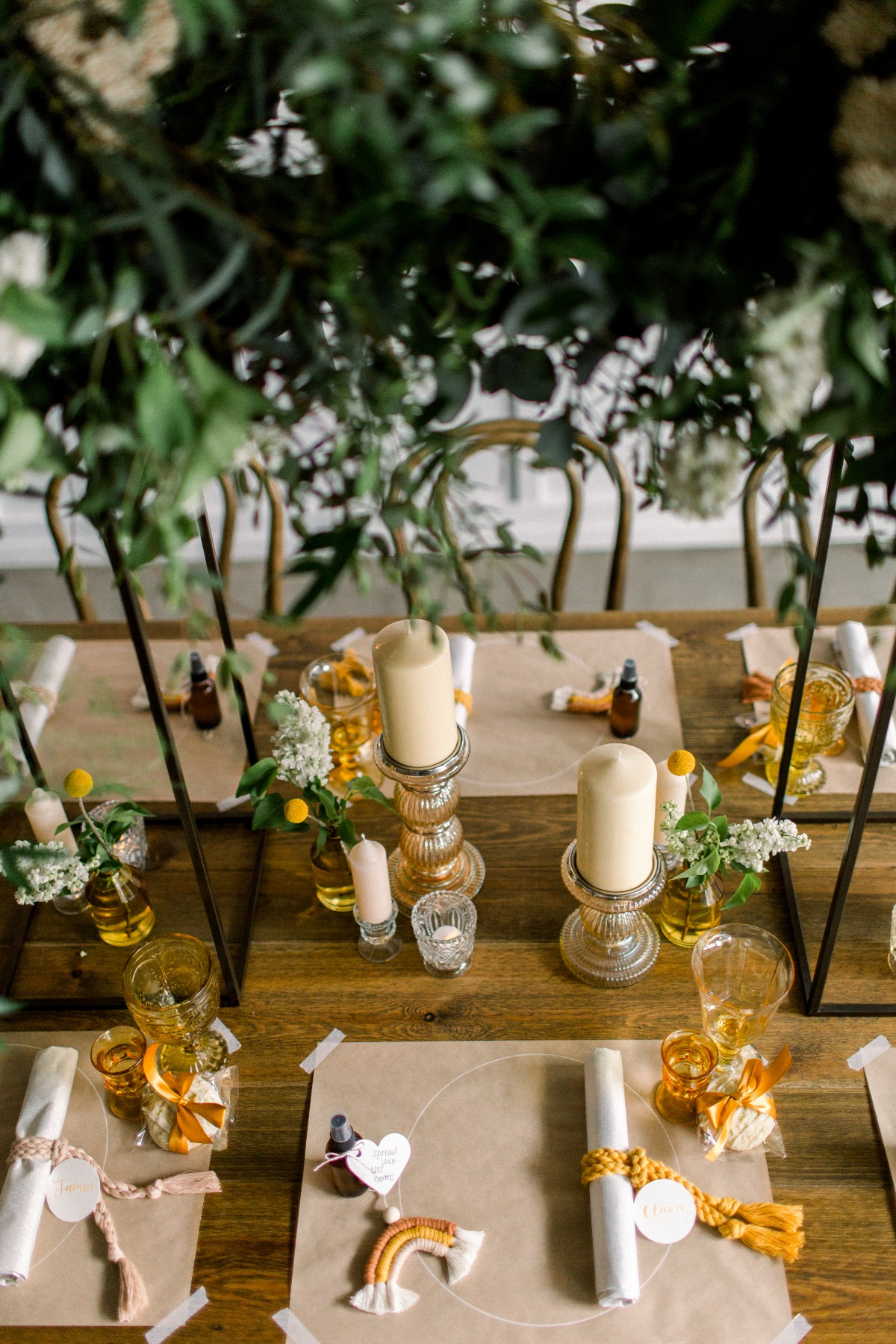 yellow wedding table decor and inspiration