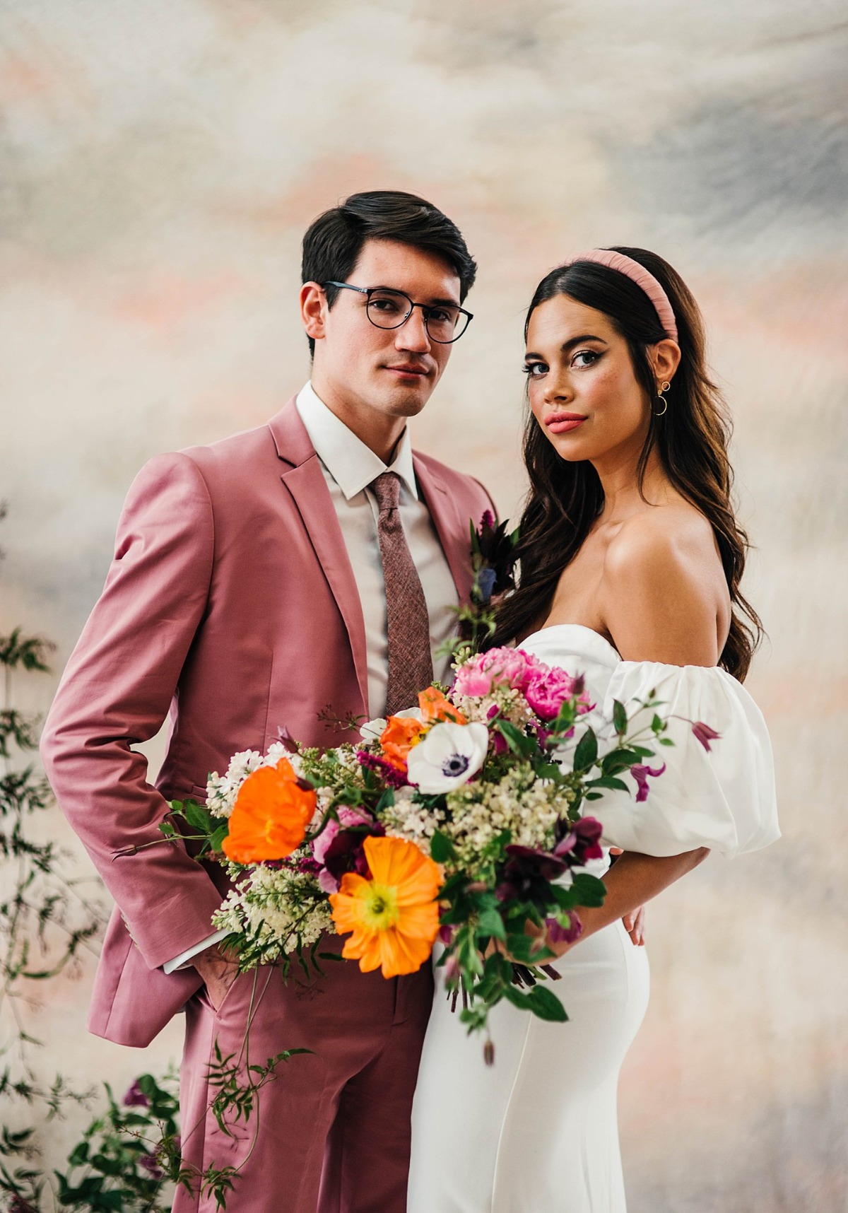 retro wedding inspiration ideas - inspired by 1986 cult- classic movie, Pretty In Pink