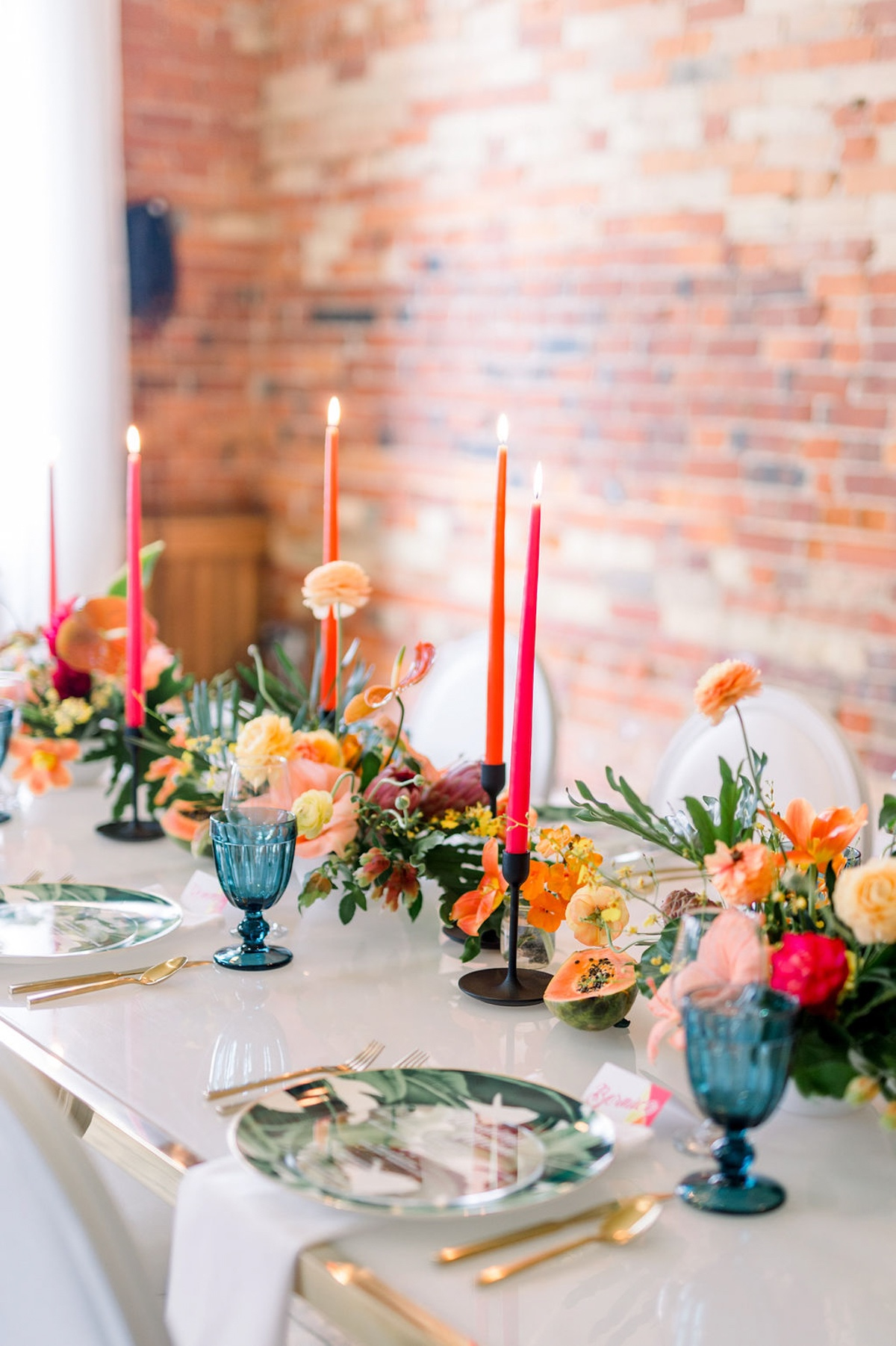 tropical wedding reception ideas