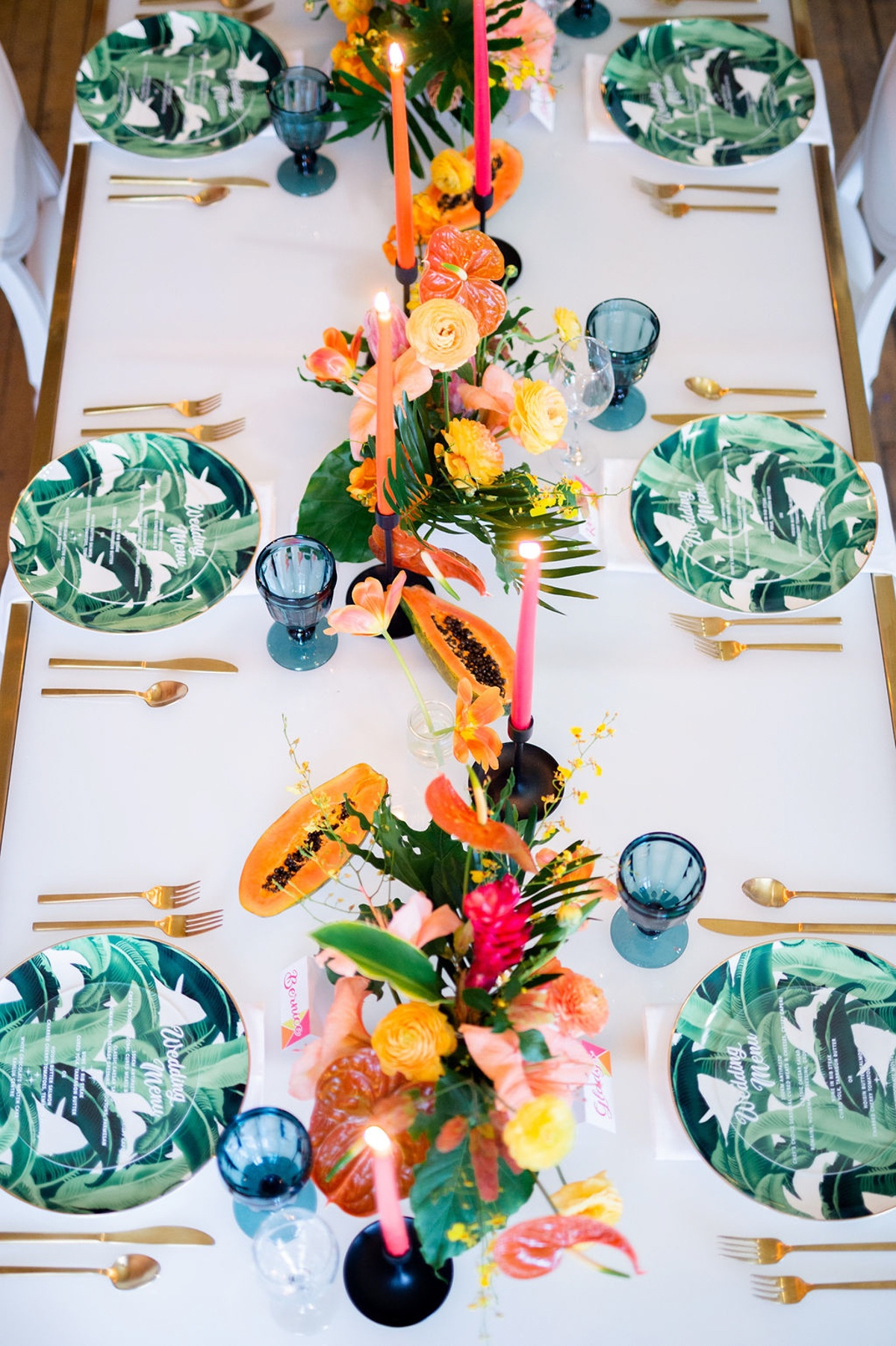 tropical wedding reception decor ideas
