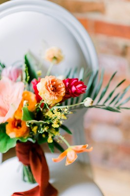 Tropical Retro Palm Springs Wedding in Toronto, Ontario at The Gladstone Hotel
