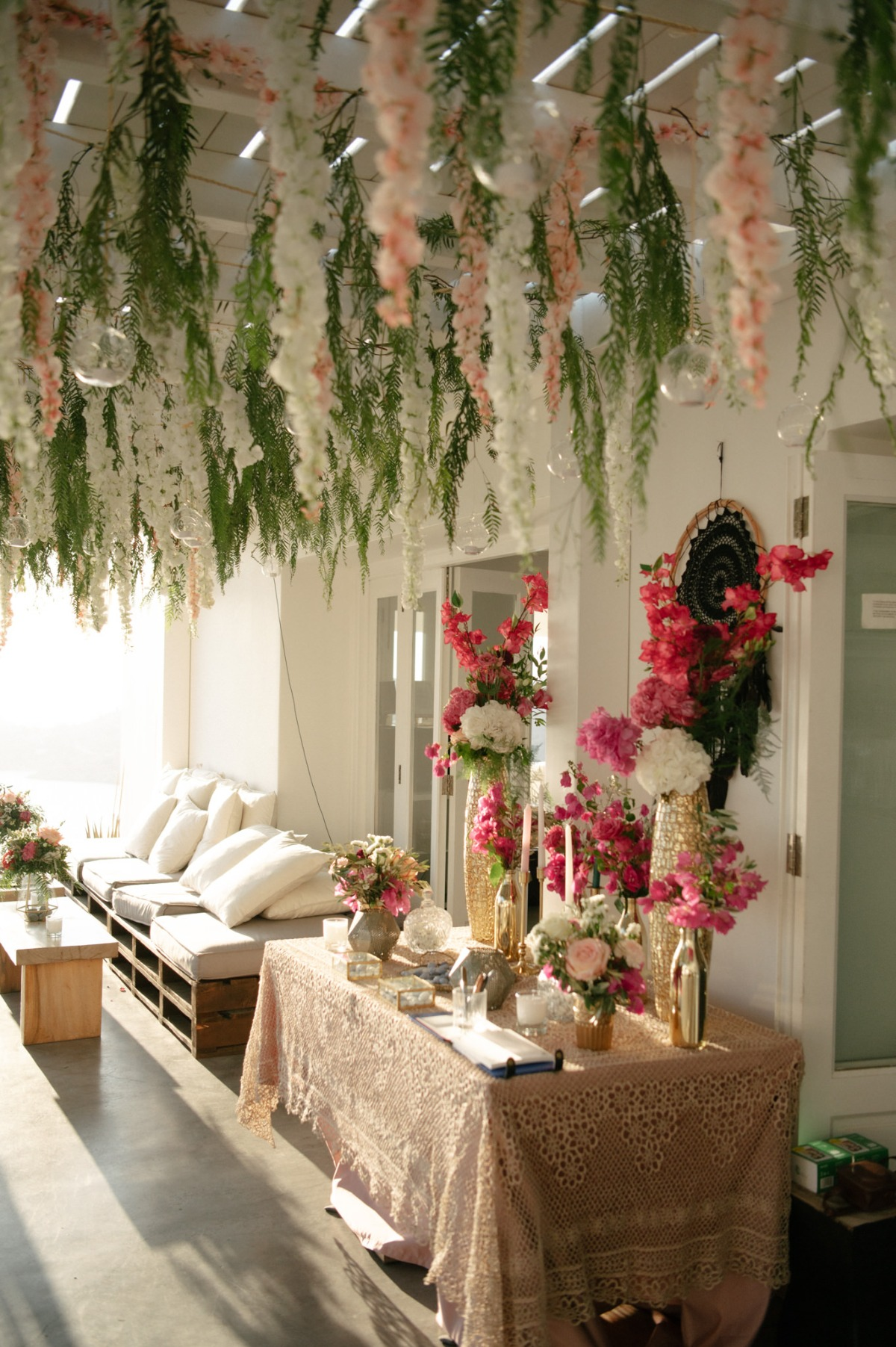 gold and pink wedding table decor ideas