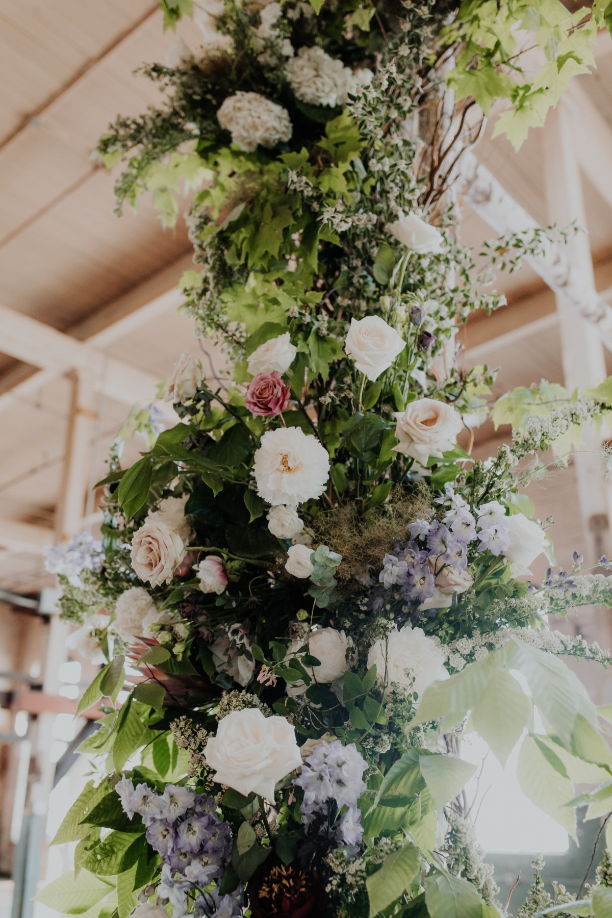 ceremony wedding florals designed by Apotheca Flowers
