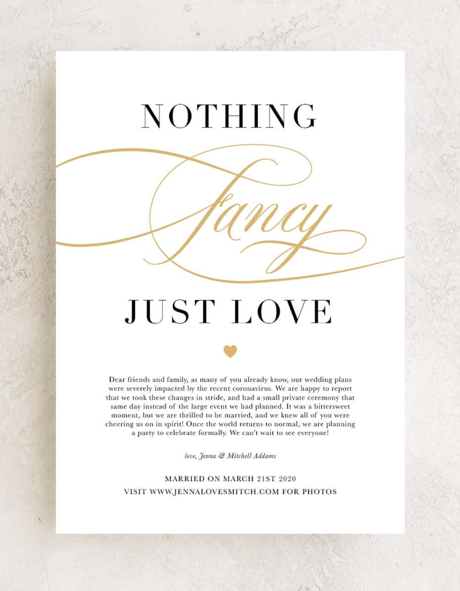 The Sweetest Wedding Announcements If You Didn T Want To Wait