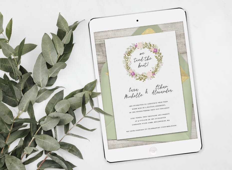 The Sweetest Wedding Announcements If You Didn't Want to Wait
