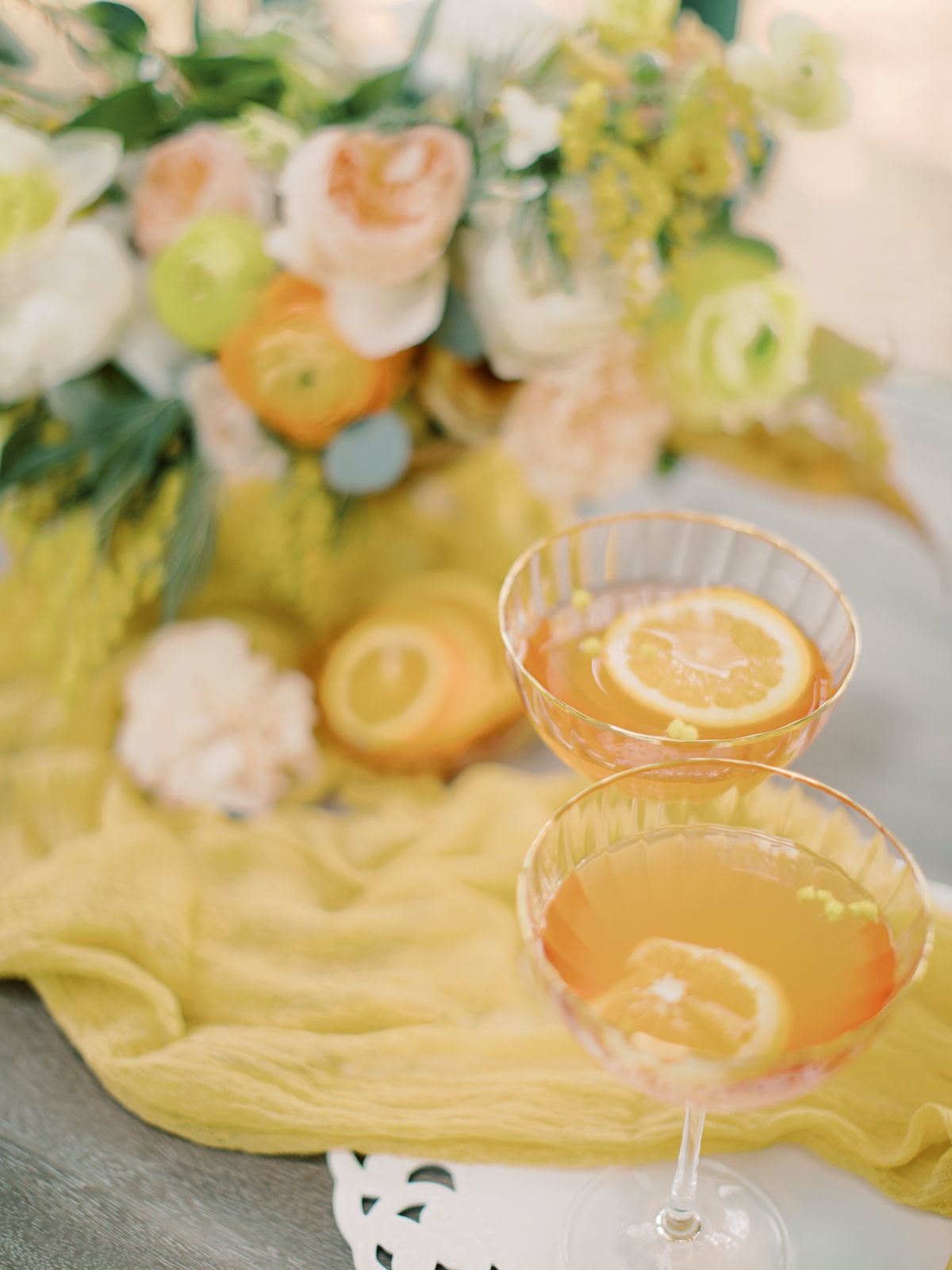 orange signature wedding cocktail