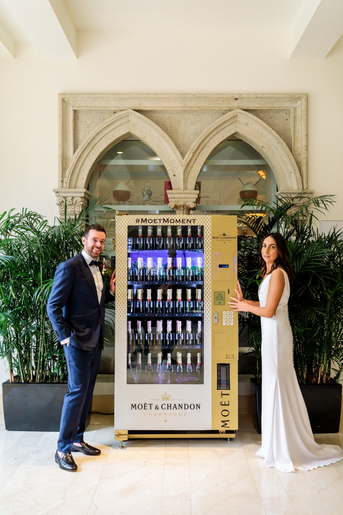 You can buy this Moet & Chandon Champagne vending machine