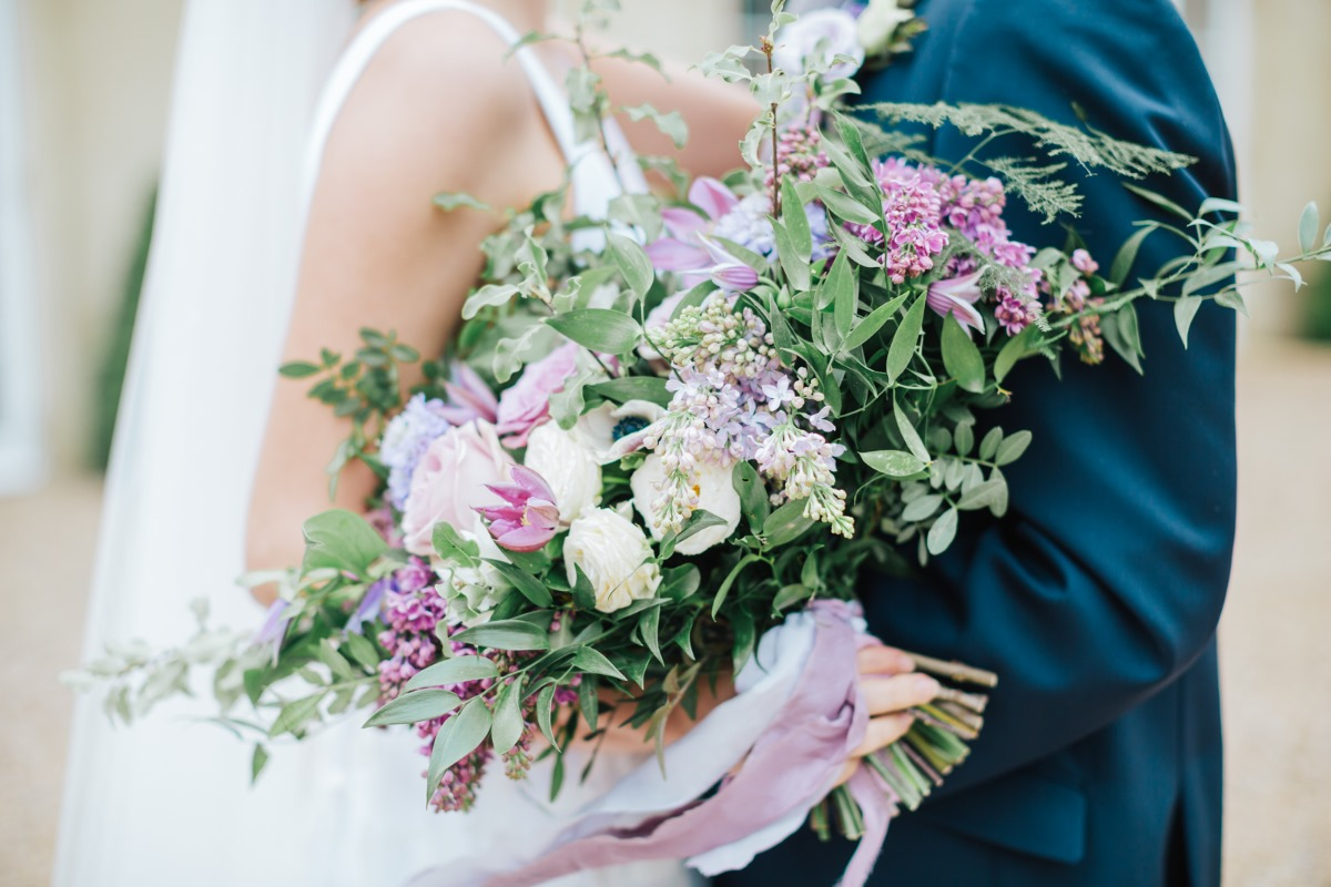 Willow & Blossom lavender wedding bouquet