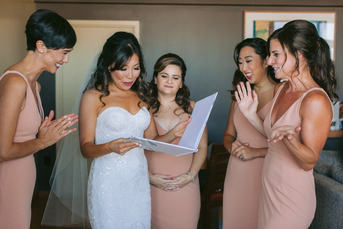 personalized letters to the bride book from her bridesmaids