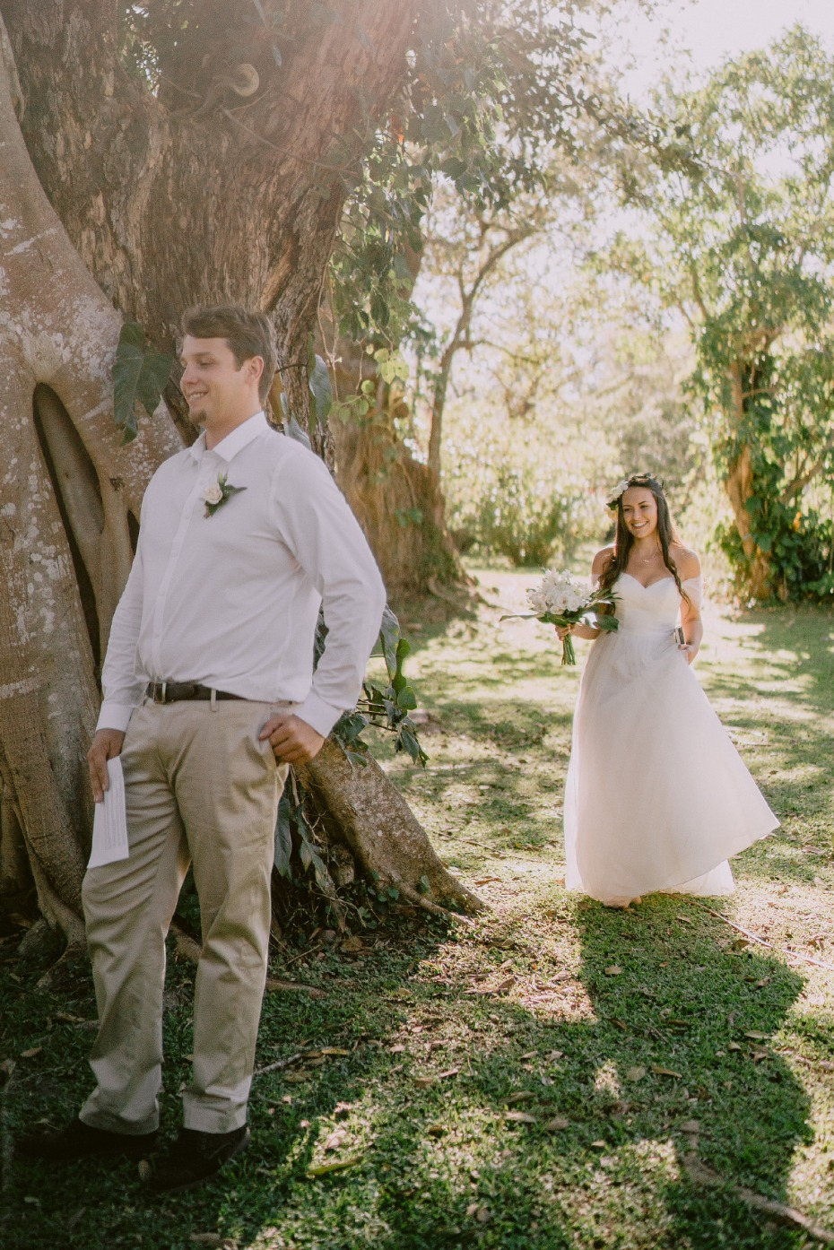 first wedding look photography ideas