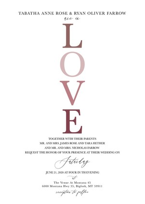 LOVE Wedding Invitation Suite