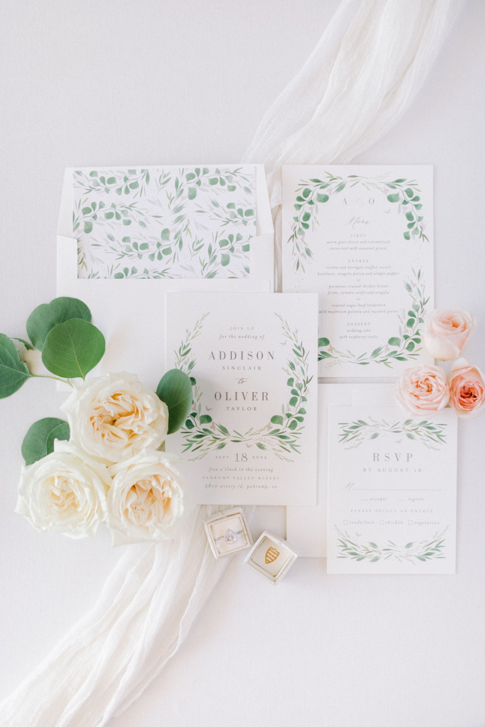 eucalyptus wedding invite