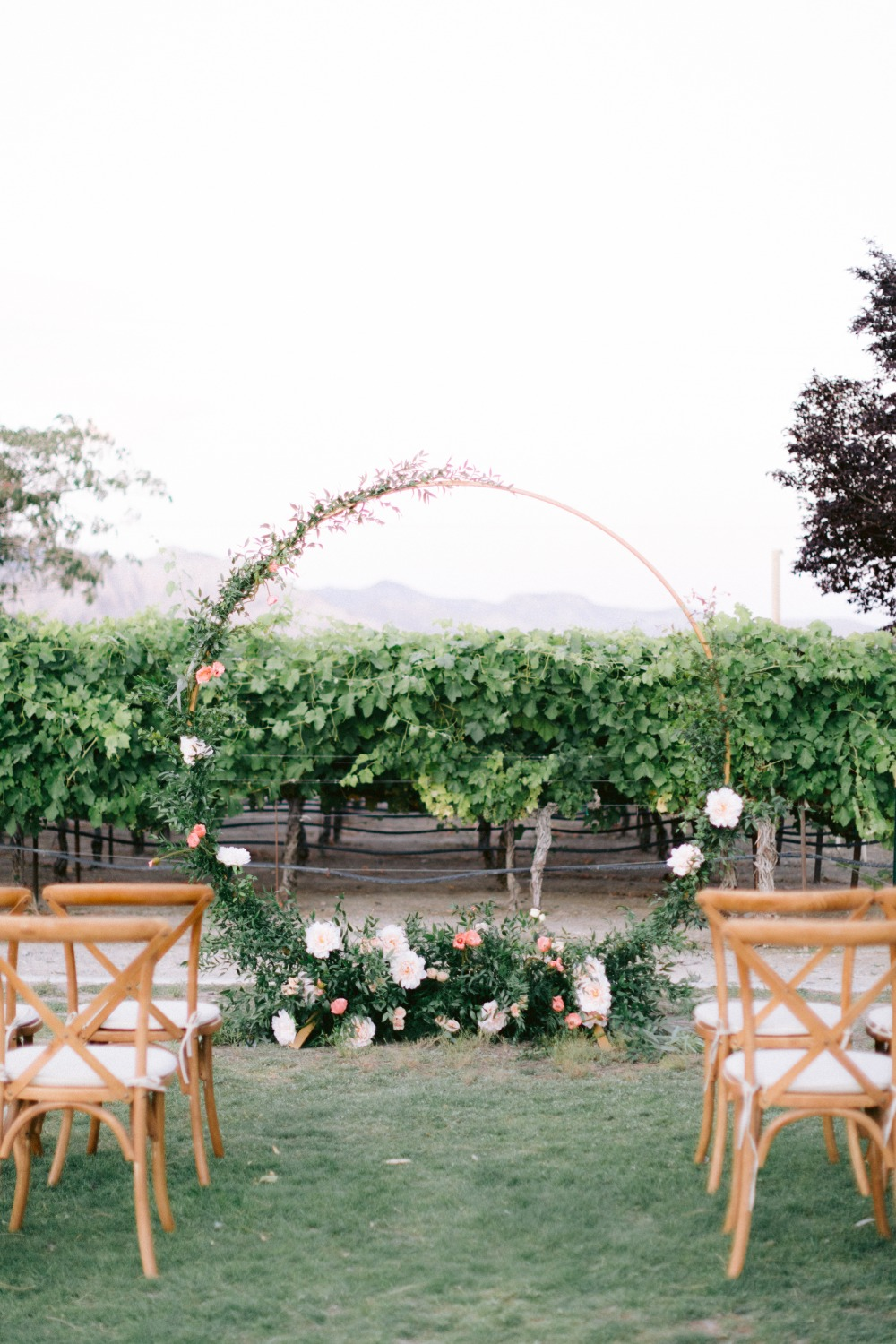 floral hoop wedding backdrop