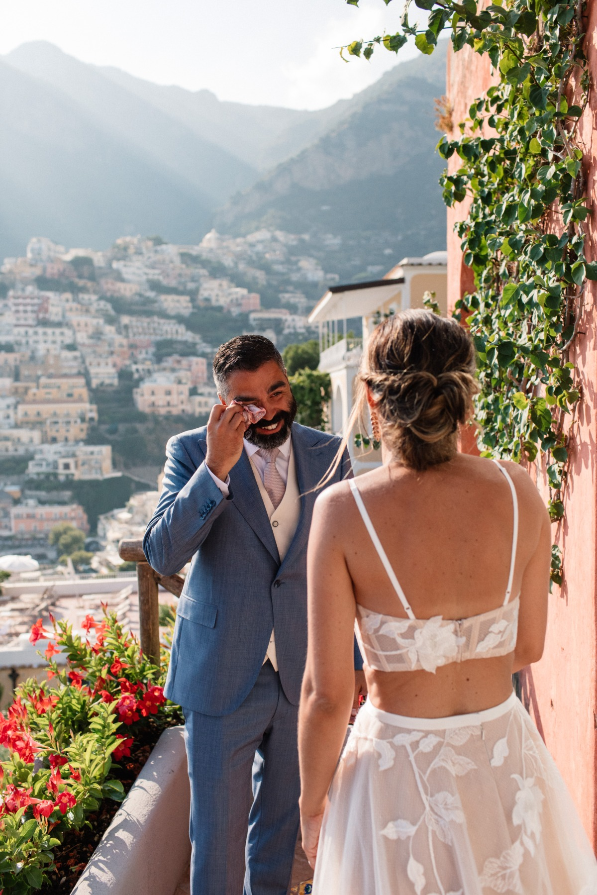 first look photograph at Amalfi Coast elopement