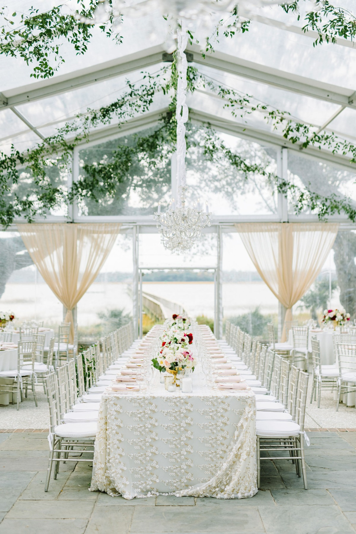elegant tent wedding reception designed by Pure Luxe Bride
