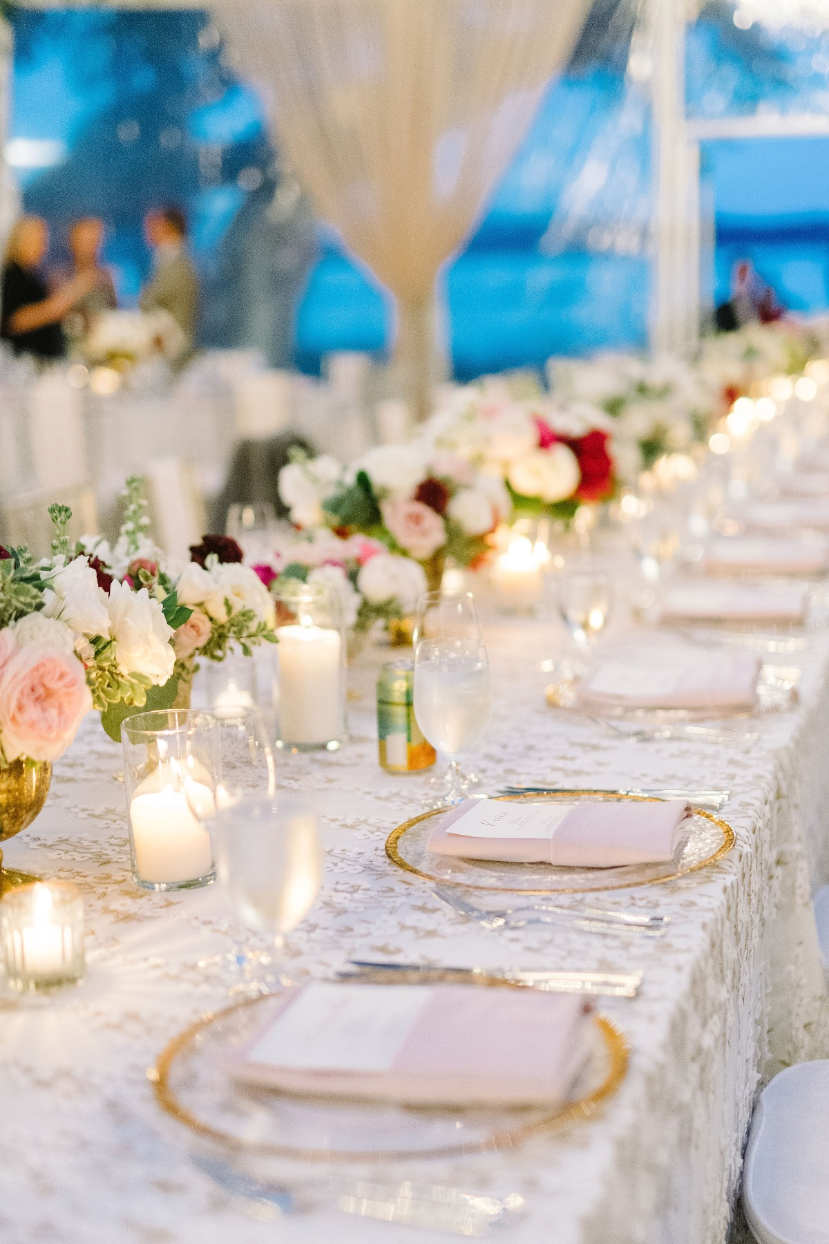 candlelit wedding reception at Lowndes Grove