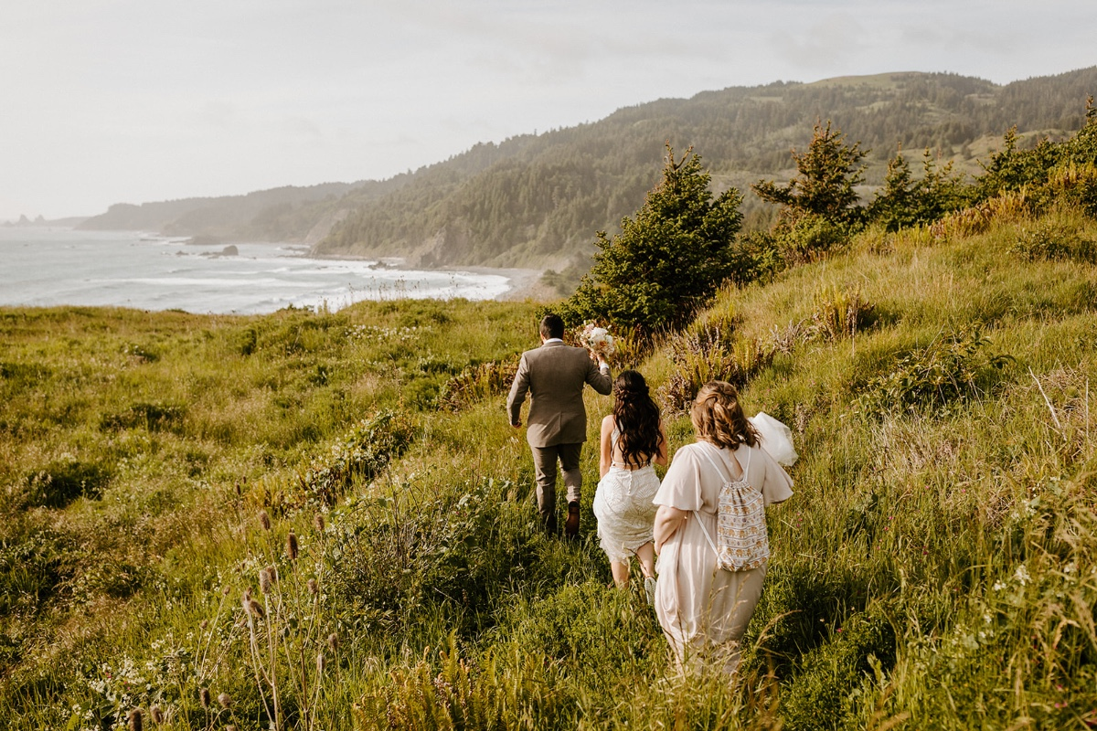 dramatic backdrop for an adventure elopement