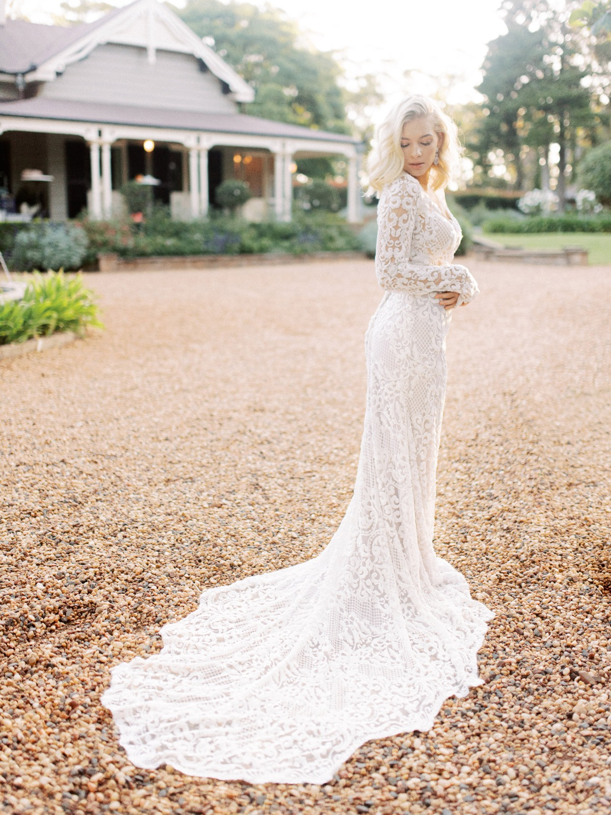 long sleeve lace wedding gown from White Lily Couture
