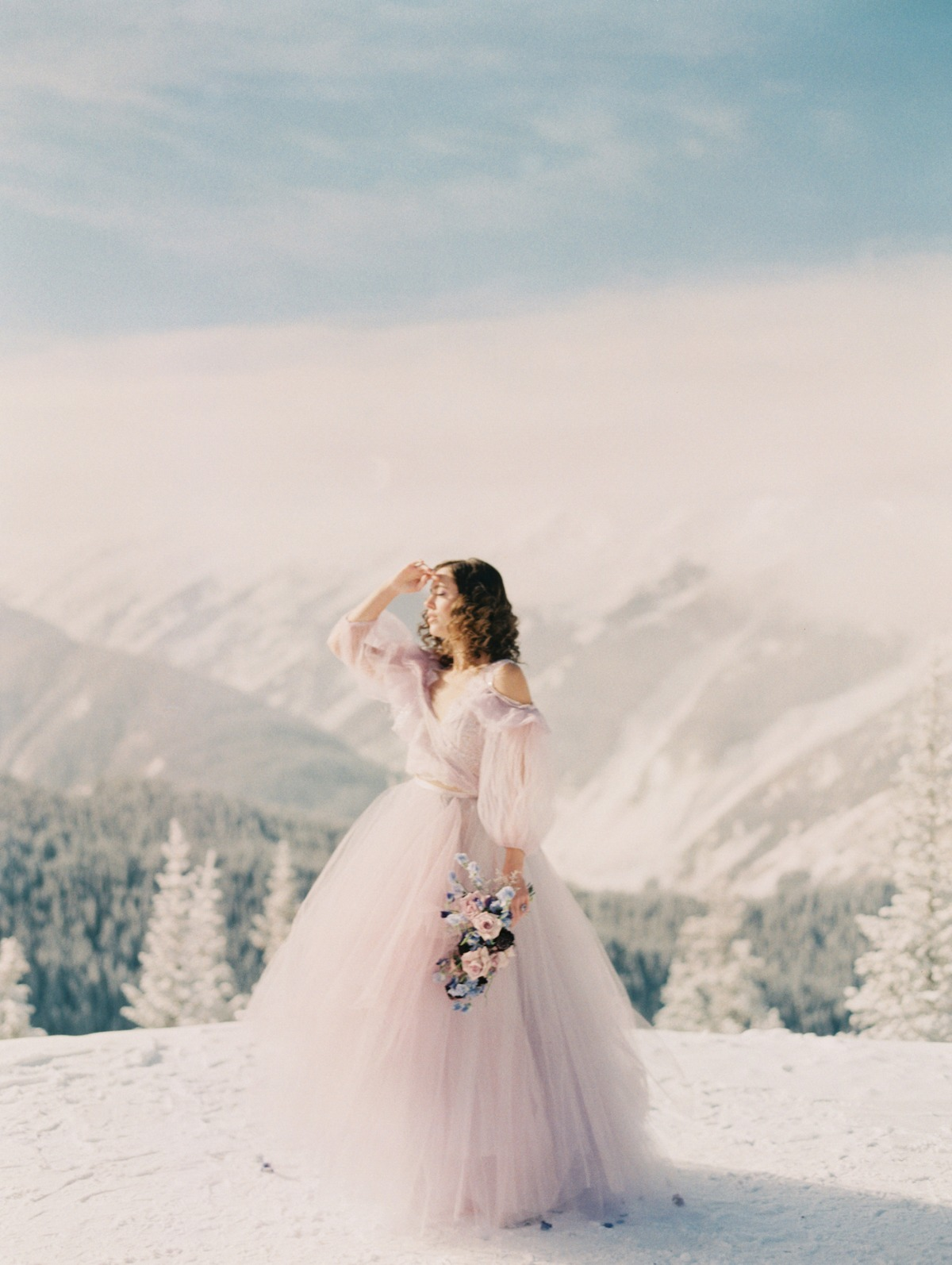 Claire LaFaye Gown pastel wedding gown