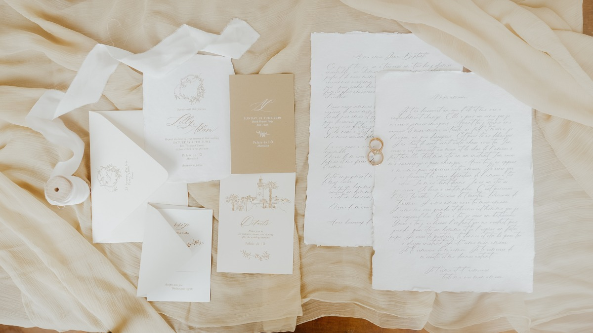 wedding invitations and wedding vows