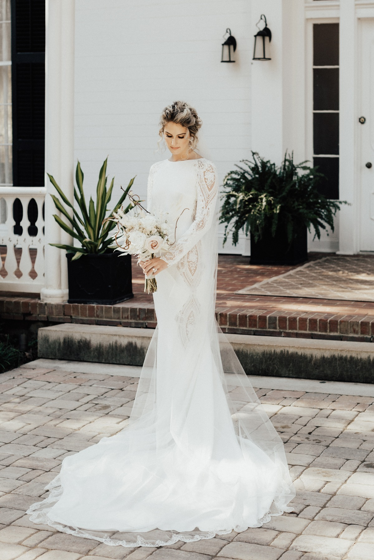 Pronovias long sleeve wedding dress