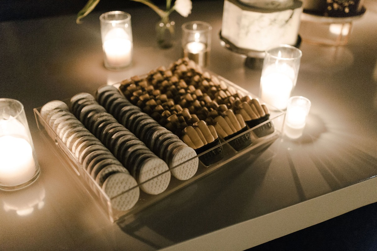 wedding cookies and candles