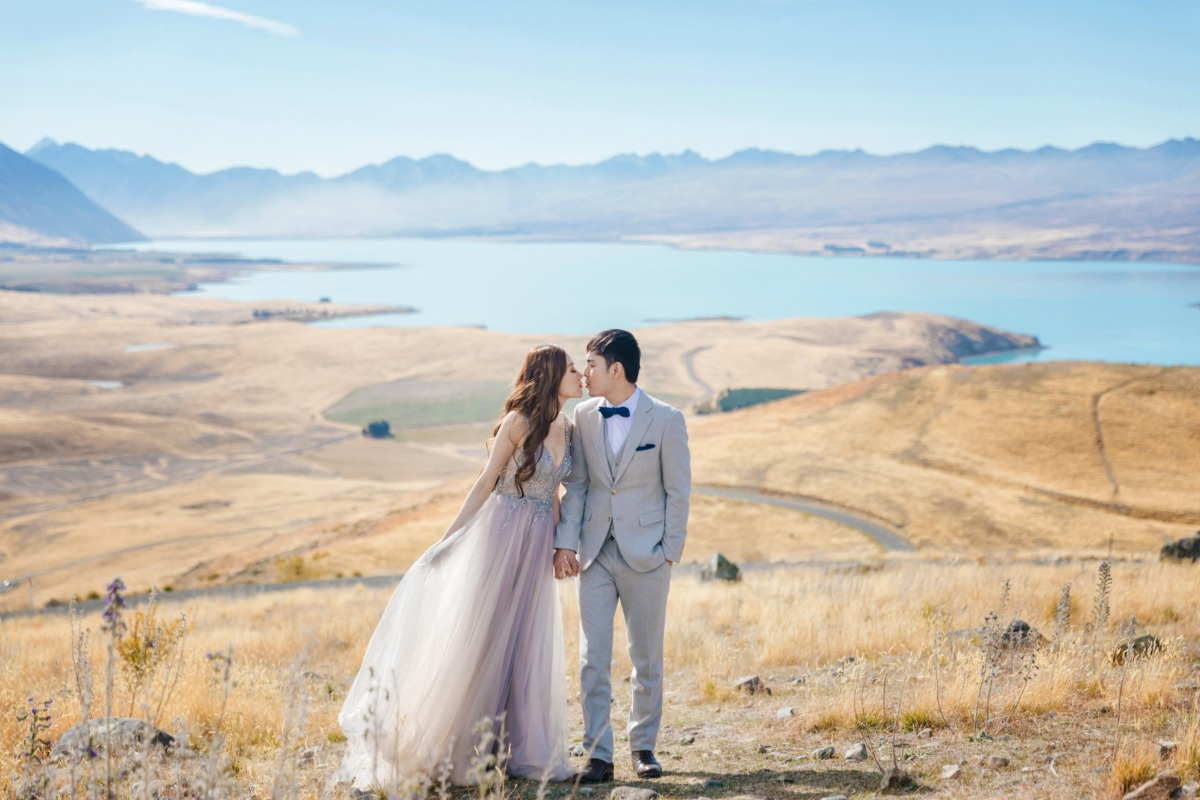 Lake Pukaki  engagement captured by OneThreeOneFour