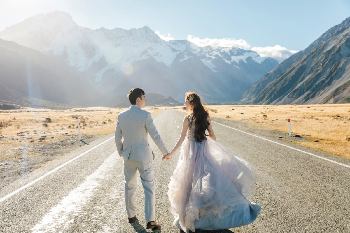 Alicia and Douglas's New Zealand engagement captured by OneThreeOneFour