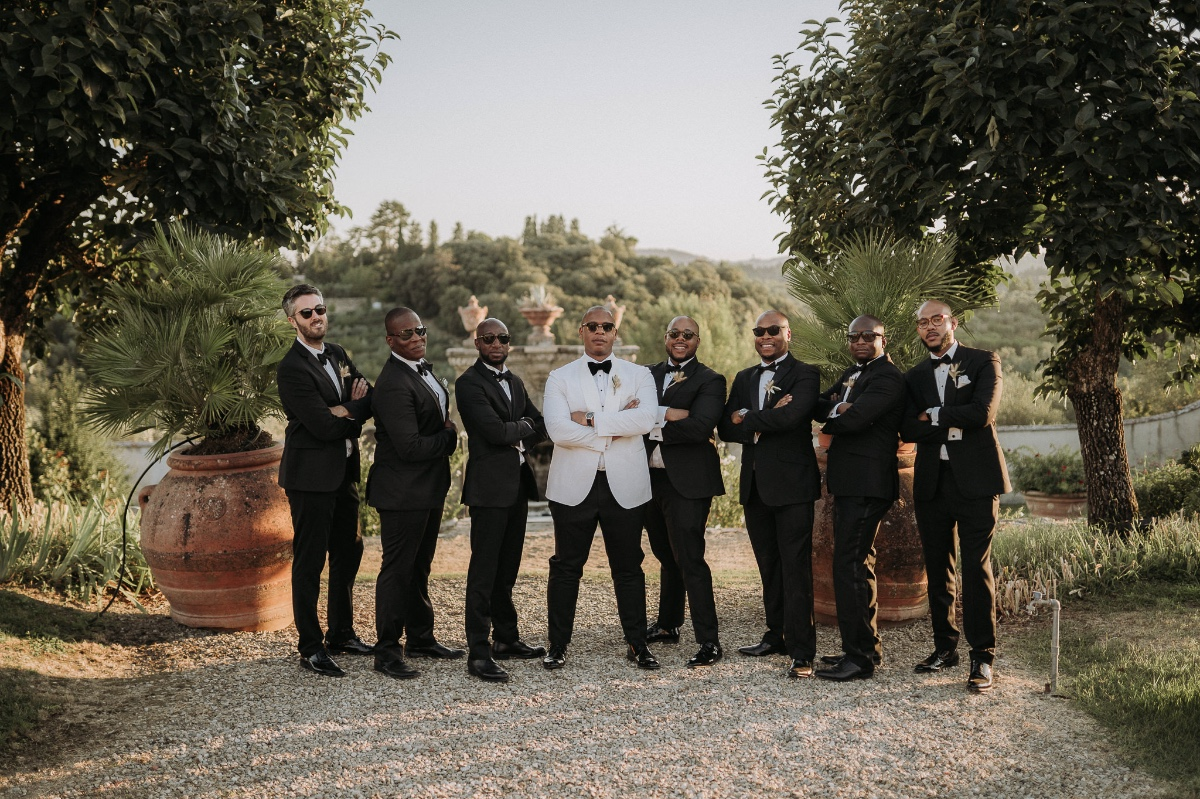 Luxe looks for the groom and his men