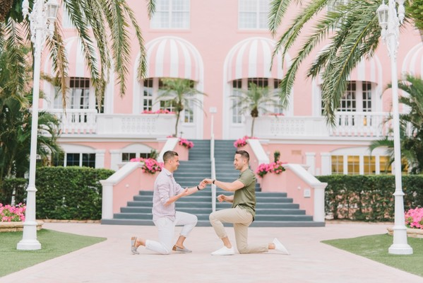 Josh and Tim Engaged at The Don Cesar