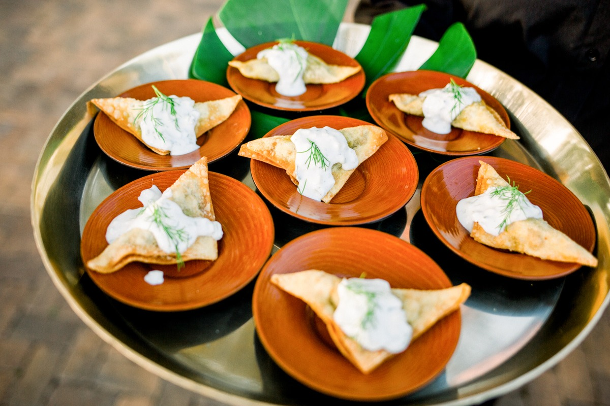 appetizers for Hawaii wedding