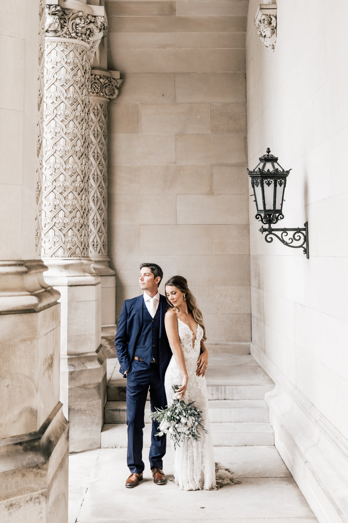 bridal portrait of bride and groom